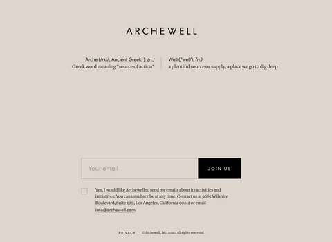 archewell's site