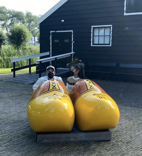 ariana grande and dalton gomez on their honeymoon