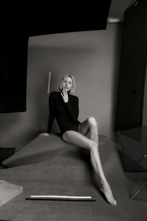Black, White, Photograph, Black-and-white, Leg, Sitting, Beauty, Monochrome, Photography, Fashion,