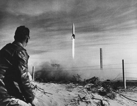 V-2 Sounding Rocket In New Mexico