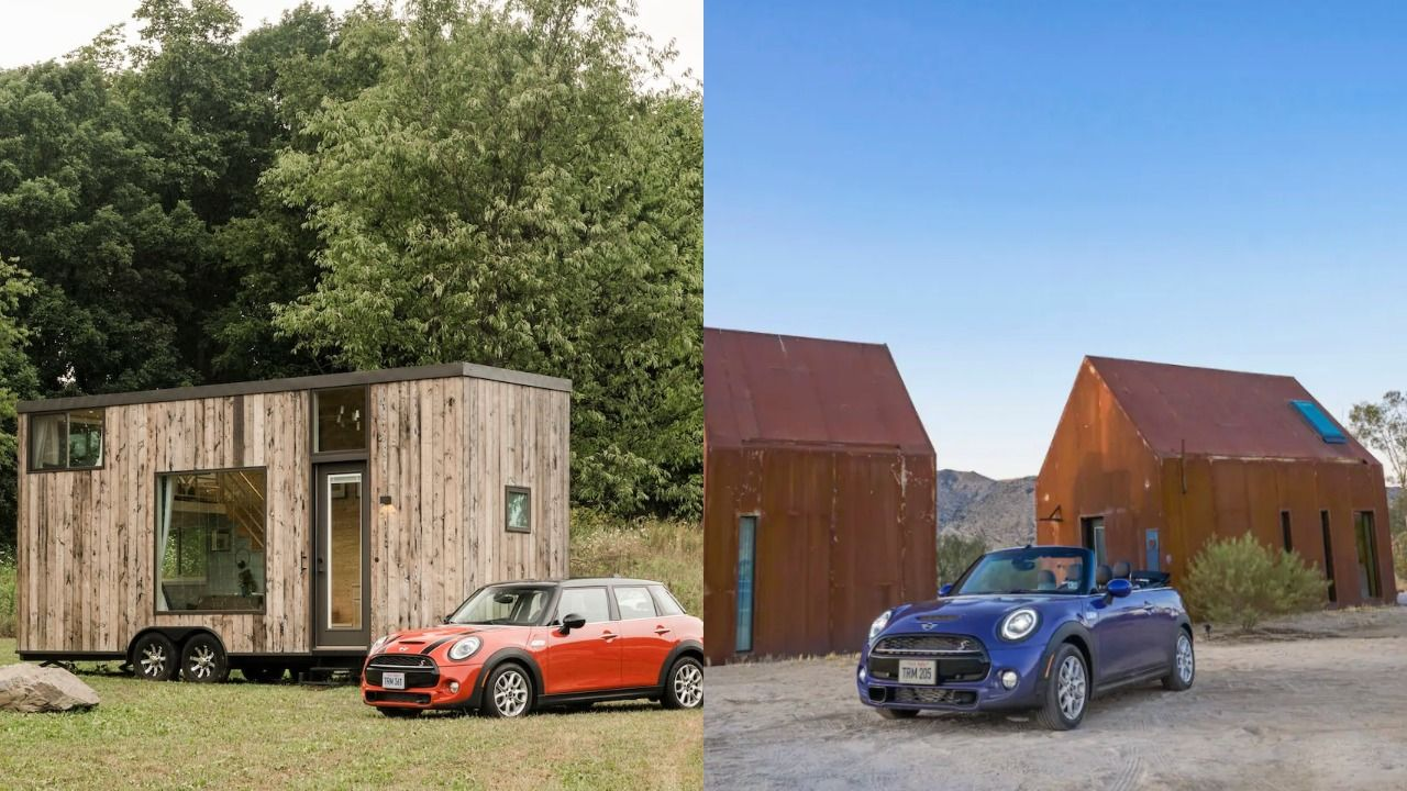 You Can Rent These Tiny Homes—and a Mini Cooper Car—on Airbnb for $1 per Night