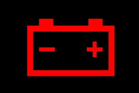 car battery warning light