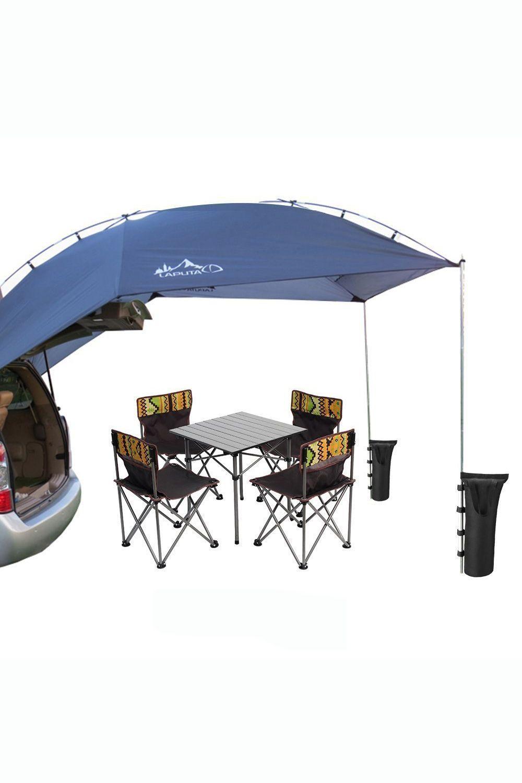 LAPUTA Waterproof Teardrop Trailer Awning for Car Camping