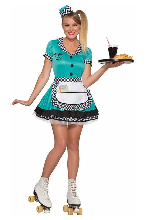car hop girl 50s halloween costume