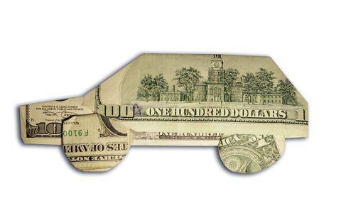 car made of us dollars