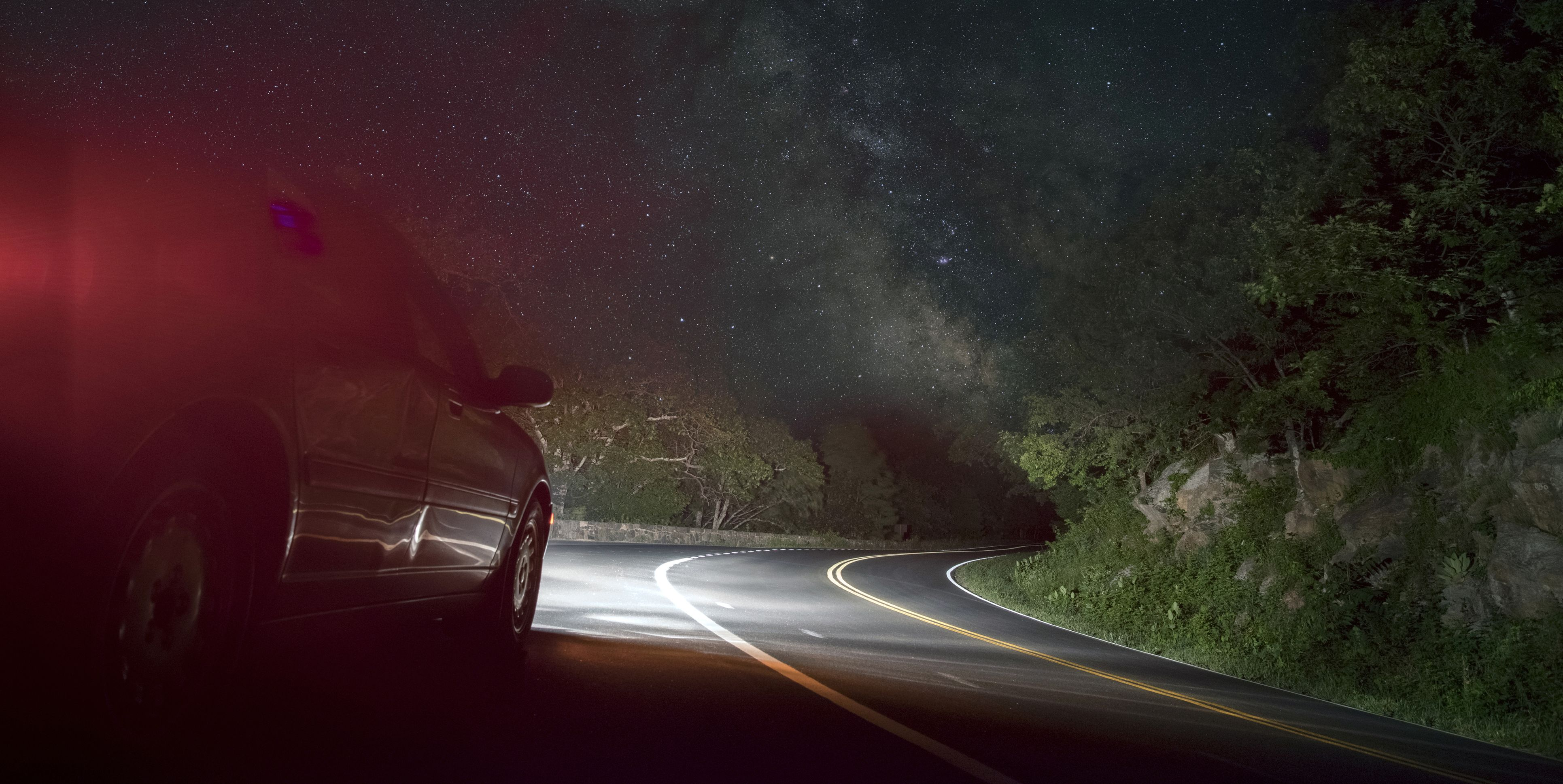Image result for car driving in the dark pictures