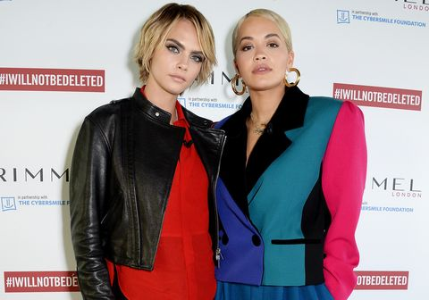 Cara Delevingne and Rita Ora Rimmel I Will Not Be Deleted campaign