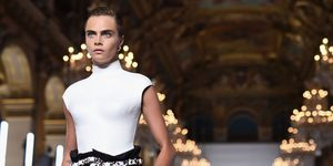 Cara Delevingne walking for Balmain