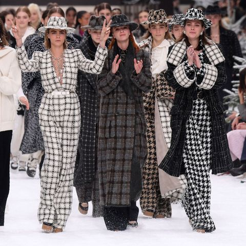 Cara Delevingne in Karl Lagerfeld's final Chanel show