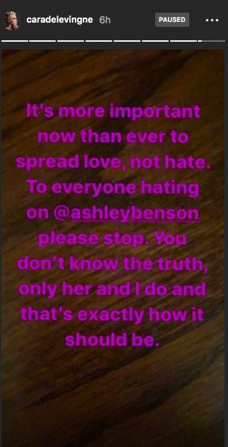 Cara Delevingne Defends Ashley Benson Over G Eazy Rumours