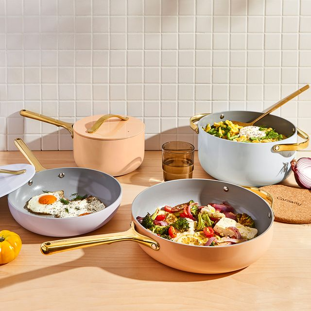 caraway full bloom collection cookware set