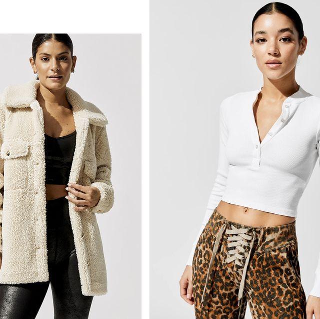 three models wearing clothes from the carbon38 fall sale