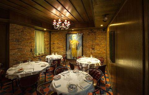 Room, Interior design, Restaurant, Building, Furniture, Table, Ceiling,