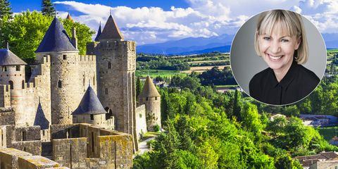 carcassonne with author kate mosse