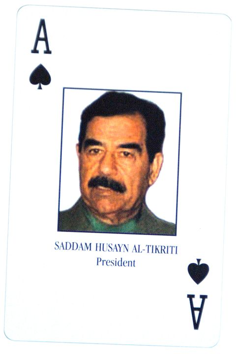 Saddam Hussein Card