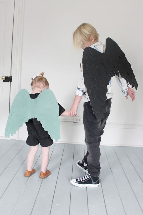 cardboard angel wings