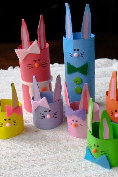 Cardboard Tubes - Cardboard Tube Bunny Rabbit Family