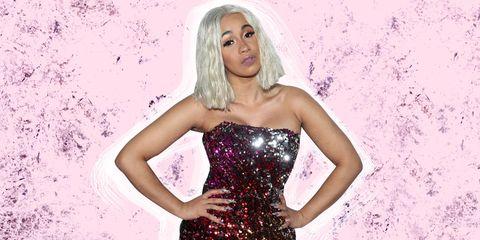 Clothing, Beauty, Blond, Fashion model, Dress, Pink, Fashion, Model, Glitter, Photo shoot,