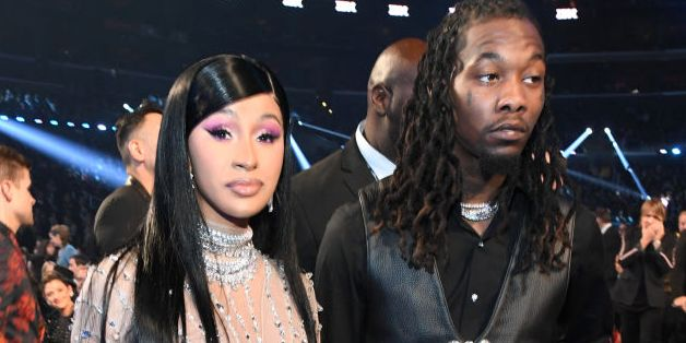 Cardi B and Offset Make a Quiet Appearance at the Grammys