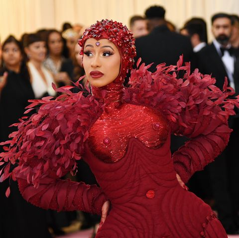Cardi B Wears Pillowy Red Gown To Met Gala 2019 Photos