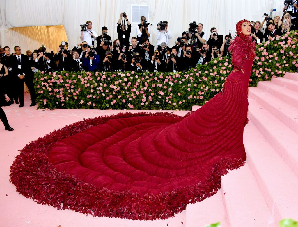 6c99483c4fae Cardi B Wears Pillowy Red Gown to Met Gala 2019 - Photos