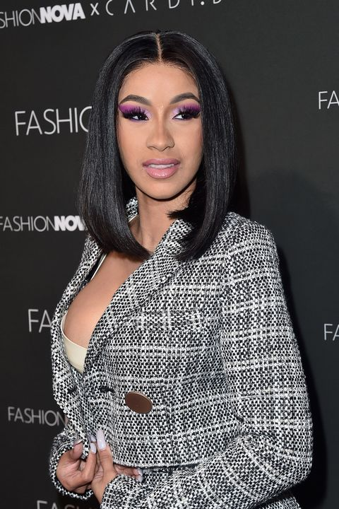 Cardi B Medium Length Celebrity Hairstyles
