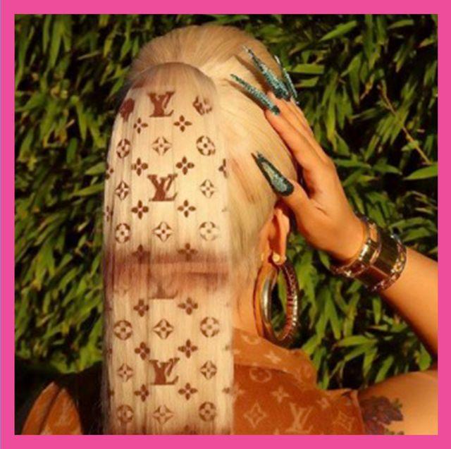 cardi b matches her hair to her handbag