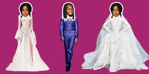 Clothing, Pink, Dress, Fashion, Outerwear, Gown, Formal wear, Fashion design, Veil, Sleeve,