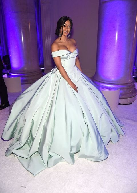 Cardi B Needed Help Carrying Her Princess Dress Down The