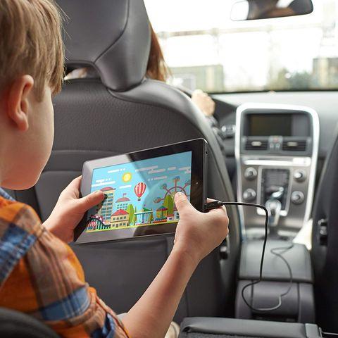 Electronics, Product, Car seat, Technology, Electronic device, Driving, Vehicle, Multimedia, Head restraint, Automotive design,