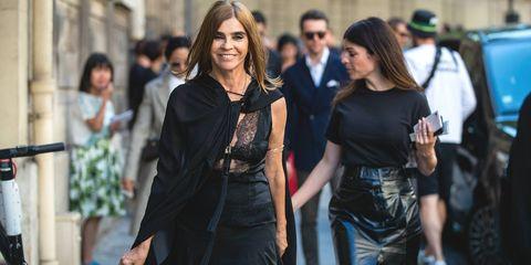 Carine Roitfeld carrierelessen  Valentino Paris Fashion Week - Haute Couture Fall/Winter 2019/2020