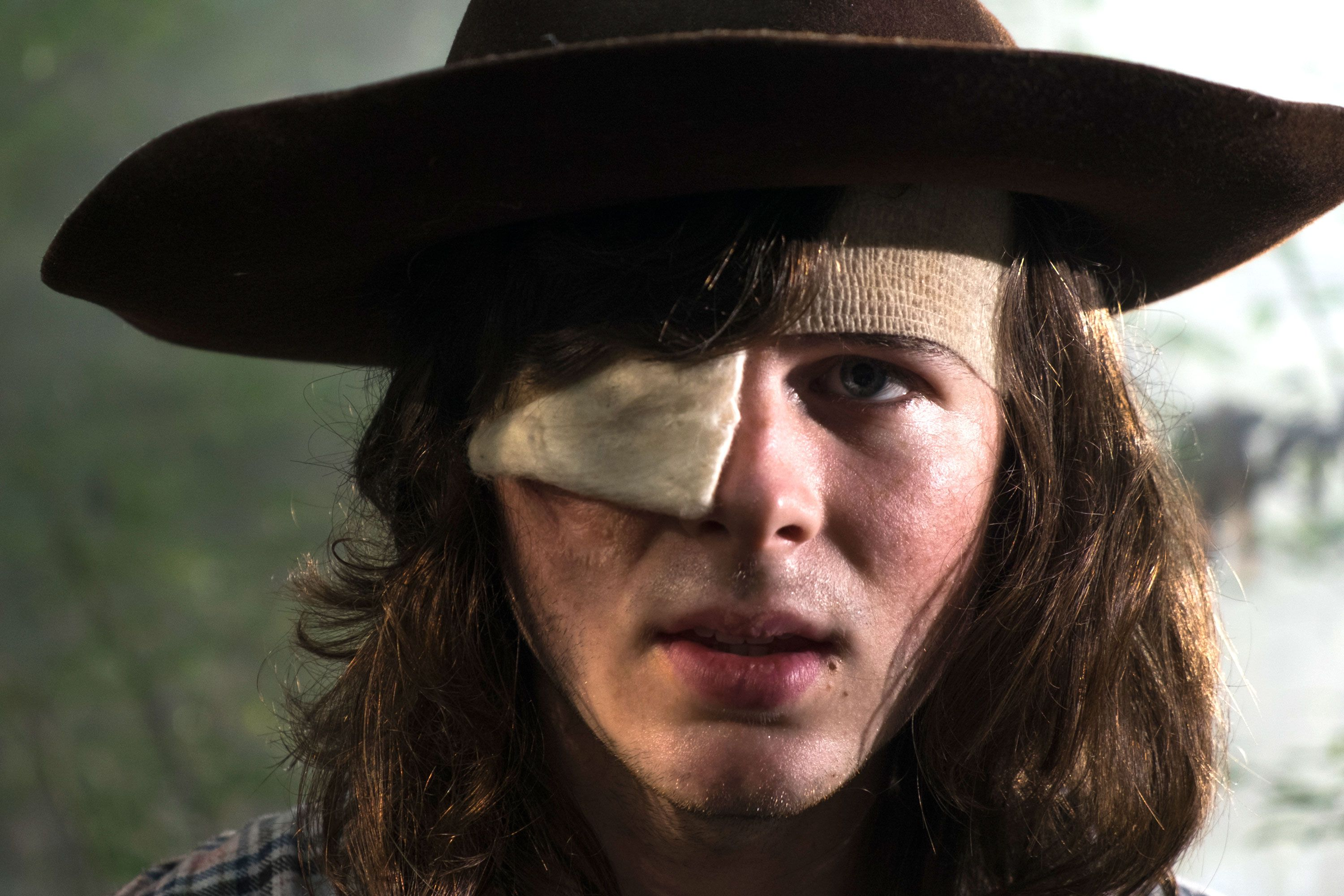 Former Walking Dead star Chandler Riggs responds to if he would appear in Rick Grimes movie