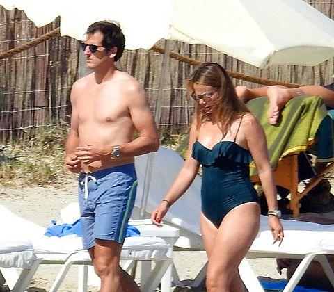 Carla Goyanes y Jorge Benguría en Ibiza