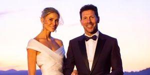 Carla Pereyra y Diego Simeone en su boda en la Toscana