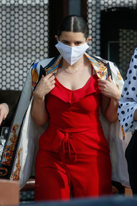 carla vigo, sobrina de la reina letizia, debuta en un photocall