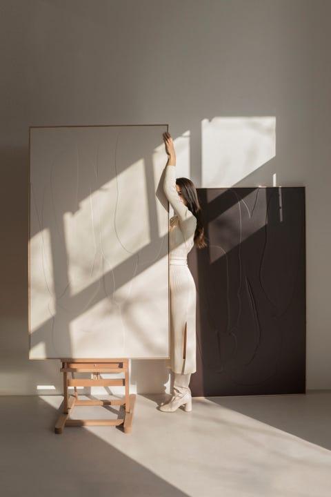 Furniture, Material property, Table, Room, Architecture, Floor, Interior design, Flooring, Art,