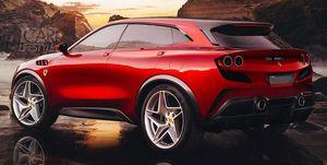 Ferrari Purosangue - render