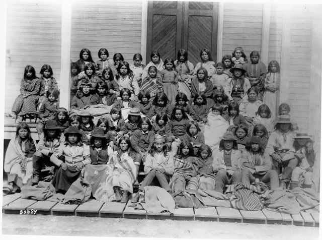 chirrcahua apaches at the carlisle indian school, pennsylvania, 1880s  location carlisle indian school, pennsylvania    photo by library of congresscorbisvcg via getty images