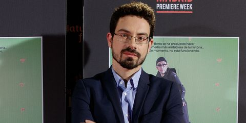 carlo padial en la premiere de algo muy gordo en november de 2017 en madrid