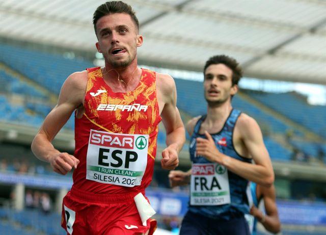 carlos mayo compite en el campeonato de europa de atletismo de selecciones en silesia