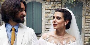 Carlota Casiraghi y Dimitri Rassam en su boda religiosa