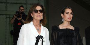 Carlota Casiraghi y Carolina de Mónaco, Karl Lagerfeld