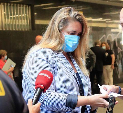 carlota corredera llegando al juicio contra la fabrica de la tele en madrid 19 jujio 2021
