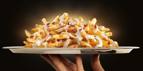 Dish, Poutine, Food, Junk food, Cuisine, Fast food, Cheese fries, Ingredient, French fries, Side dish,