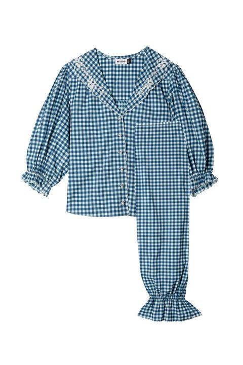 Blue, Collar, Sleeve, Dress shirt, Textile, Pattern, Style, Electric blue, Button, Pattern,