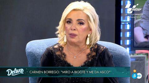 carmen borrego estalla contra bigote arrocet en 'sábado deluxe'