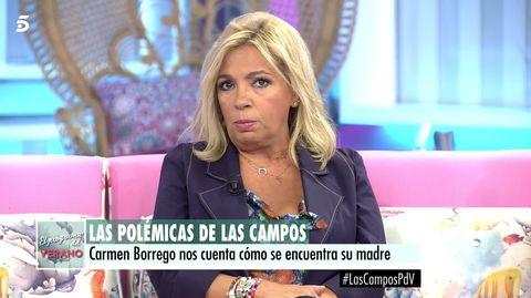 Carmen Borrego habla de María Teresa Campos y Edmundo Arrocet.