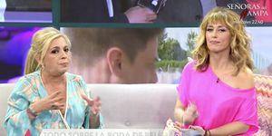Carmen Borrego, María Teresa Campos, Terelu Campos, Viva la vida, boda Belén Esteban Sálvame, Carmen Borrego cuenta cómo fue el reencuentro con sus compañeros de 'Salvame' en la boda de Belén, Carmen Borrego habla del reencuentro con sus compañeros de 'Sálvame', Carmen Borrego da su versión sobre el reencuentro con sus compañeros de 'Sálvame', Así fue el reencuentro de Las Campos con 'Sálvame'