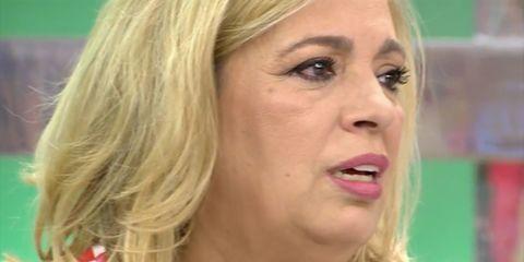 Carmen Borrego llorando en sálvame por su hermana