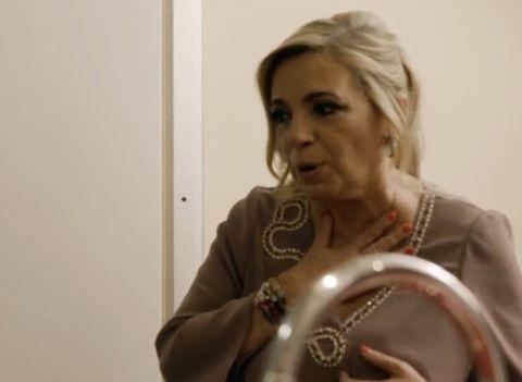 Carmen Borrego, con cara de susto, se reencuentra con Payasín en 'Ven a cenar conmigo: Gourmet Edition'